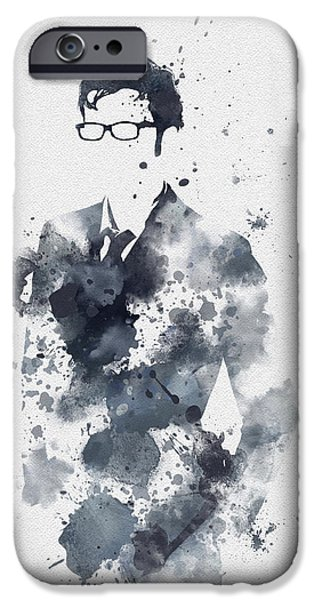 Police Art iPhone Cases - The Tenth Doctor iPhone Case by Rebecca Jenkins