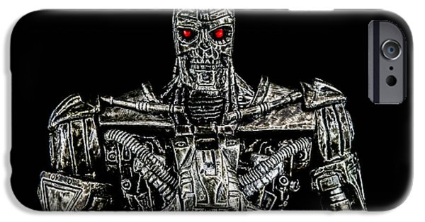 Electronic iPhone Cases - The terminator  iPhone Case by Toppart Sweden