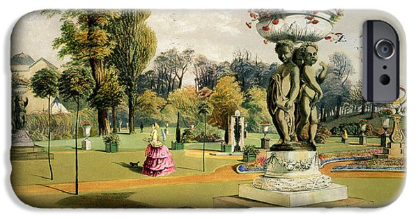 Stately iPhone Cases - The Terrace Garden Woburn Abbey  iPhone Case by E Adveno Brooke