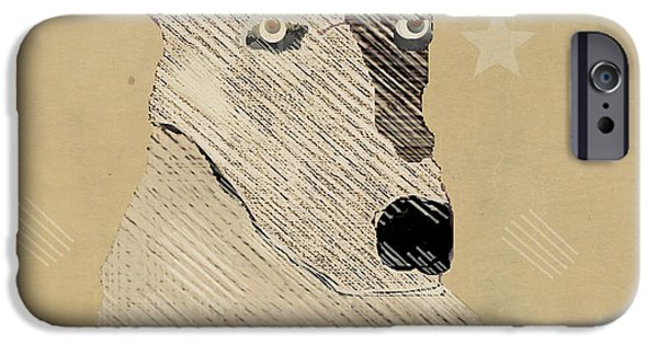 Terrier Digital iPhone Cases - The Terrier Dog  iPhone Case by Bri Buckley