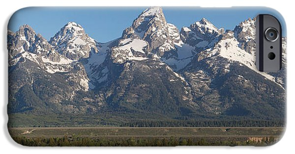Springtime In The Park iPhone Cases - The Tetons iPhone Case by Aaron Spong
