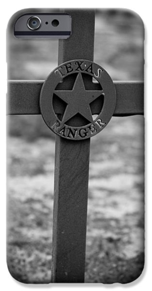 Recently Sold -  - Headstones iPhone Cases - The Texas Ranger iPhone Case by Amber Kresge