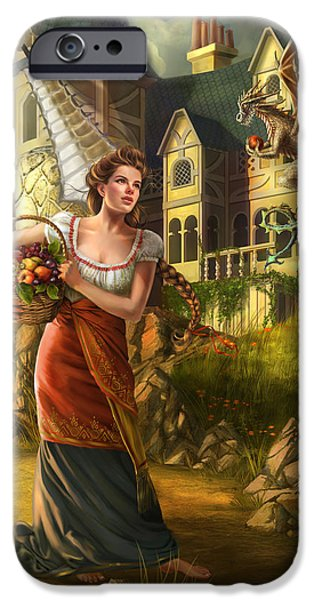 Fruit Basket iPhone Cases - The Thief iPhone Case by Drazenka Kimpel