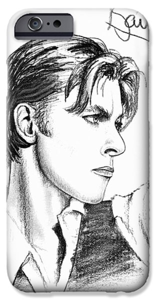 The Thin White Duke iPhone Case by Cristophers Dream Artistry