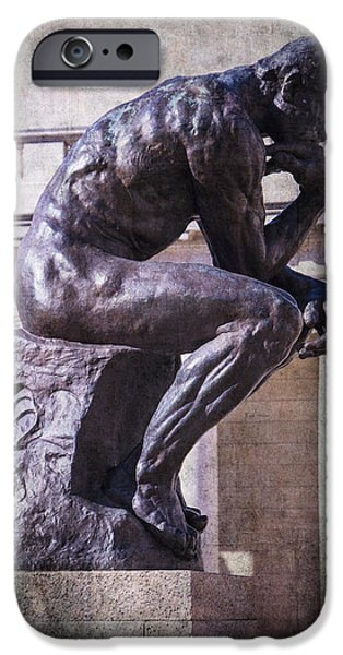 Thinking iPhone Cases - The Thinker iPhone Case by Garry Gay