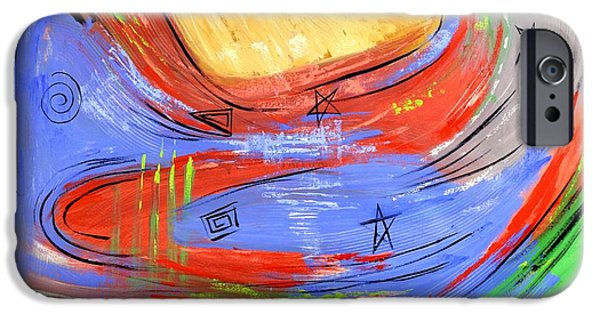 Abstract Expressionist iPhone Cases - The Third Heaven iPhone Case by Anthony Falbo