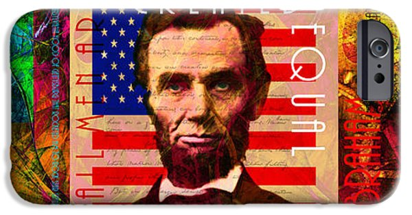 Lincoln iPhone Cases - The Three Abes 20140218 iPhone Case by Wingsdomain Art and Photography
