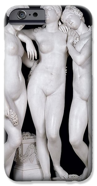 Neo iPhone Cases - The Three Graces, 1831 Marble See For Details 164658, 164659 iPhone Case by James Pradier