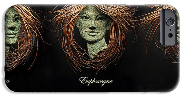 Relief Sculpture Reliefs iPhone Cases - The Three Graces iPhone Case by Adam Long