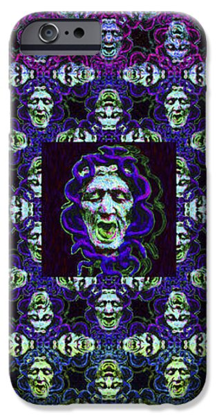 Medusa iPhone Cases - The Three Medusas 20130131 - vertical iPhone Case by Wingsdomain Art and Photography