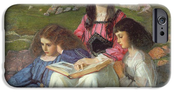 Carroll iPhone Cases - The Three Sisters of Dean Liddell iPhone Case by Sir William Blake Richomond