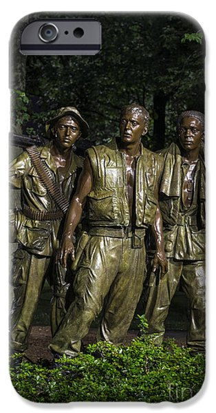 Harts iPhone Cases - The Three Soldiers iPhone Case by John Greim