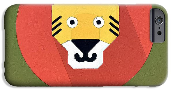 Tiger Digital iPhone Cases - The Tiger Cute Portrait iPhone Case by Florian Rodarte