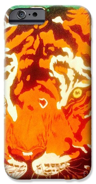 Board iPhone Cases - The Tiger iPhone Case by Franky A HICKS