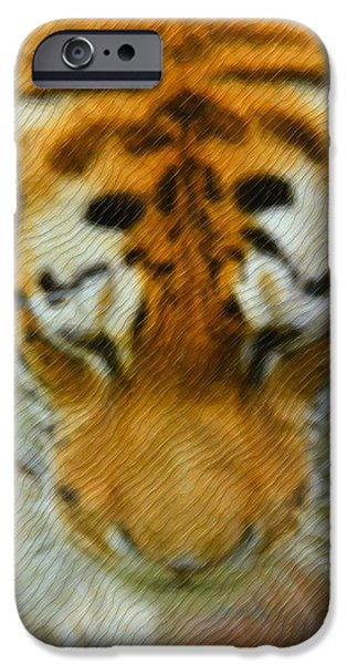 The Tiger Hunt iPhone Cases - The Tiger iPhone Case by Toppart Sweden