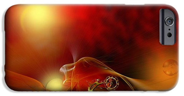 The Sun God iPhone Cases - The time born in the shine of his majesty iPhone Case by Franziskus Pfleghart
