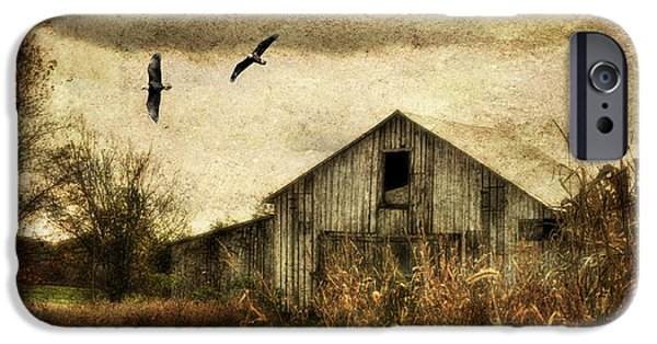 Barnyard Digital Art iPhone Cases - The Times They Are A Changing iPhone Case by Lois Bryan