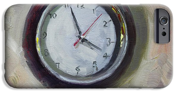 The Clock iPhone Cases - The Times iPhone Case by Ylli Haruni