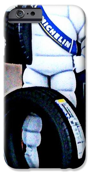 Michelin iPhone Cases - The Tire Man iPhone Case by Pamela Hyde Wilson
