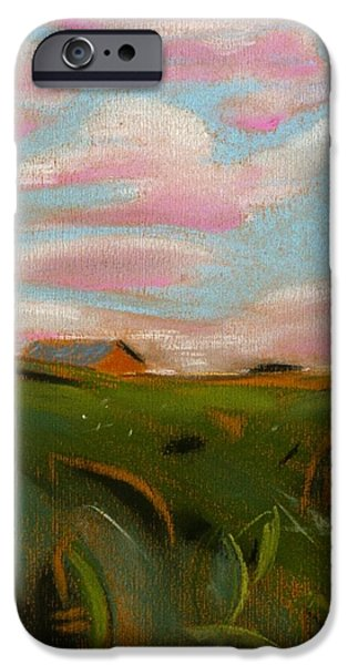 Field. Cloud Pastels iPhone Cases - The Tobacco Field iPhone Case by Danyl Cook