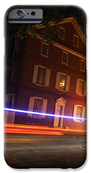 Dolley iPhone Cases - The Todd House Philadelphia iPhone Case by Christopher Woods