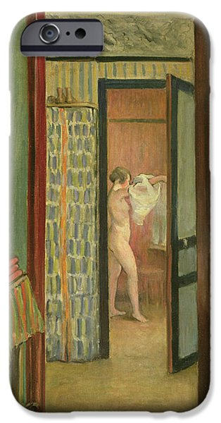 Dressing Room Paintings iPhone Cases - The Toilet iPhone Case by Henri Lebasque