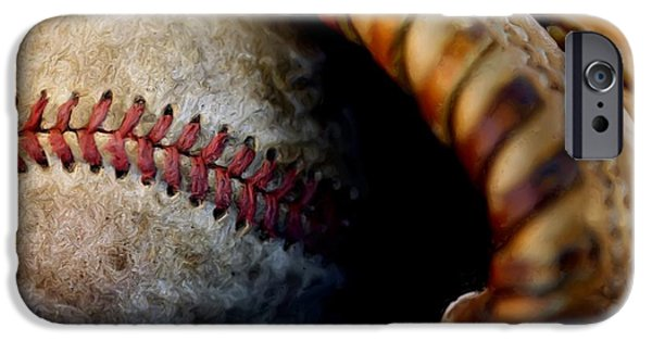 Baseball Glove iPhone Cases - The Tools Of The Game iPhone Case by Karol  Livote