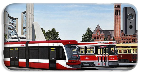 Pcc iPhone Cases - The Toronto Streetcar 100 Years iPhone Case by Kenneth M  Kirsch