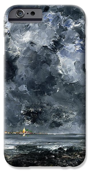 Abstract Expressionist iPhone Cases - The Town iPhone Case by August Johan Strindberg