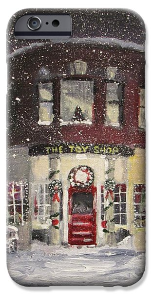 Jack Skinner Paintings iPhone Cases - The Toy Shop iPhone Case by Jack Skinner