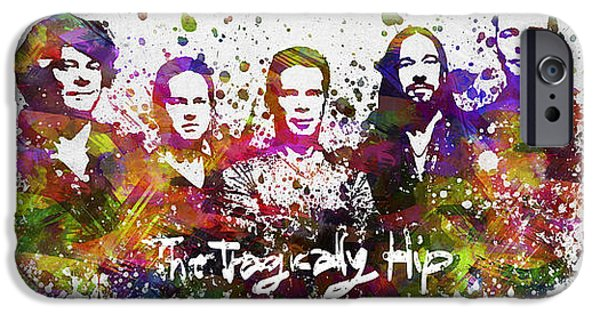 Gordon iPhone Cases - The Tragically Hip in Color iPhone Case by Aged Pixel