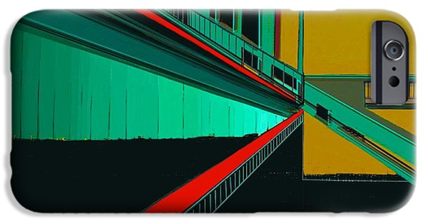 Sign iPhone Cases - The Train Station   Number 5 iPhone Case by Diane Strain