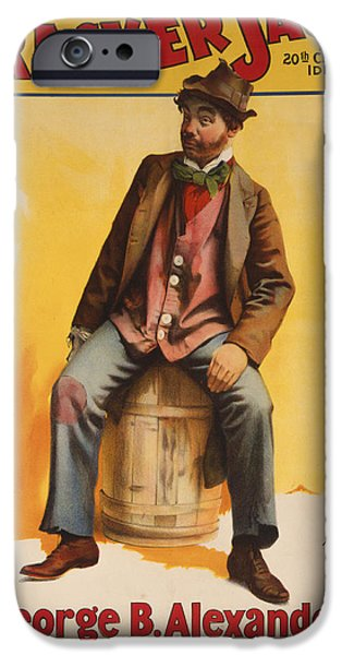 Comedian iPhone Cases - The Tramp Balladist iPhone Case by Aged Pixel