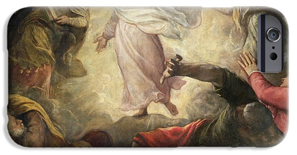 Tablet iPhone Cases - The Transfiguration of Christ iPhone Case by Titian