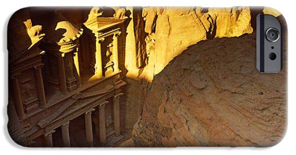 Jordan iPhone Cases - The Treasury At Petra, Wadi Musa, Jordan iPhone Case by Panoramic Images