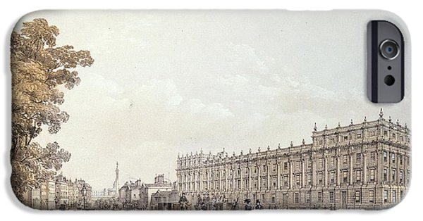 Print Photographs iPhone Cases - The Treasury, Whitehall, Pub. By Lloyd Bros. & Co. 1852 Colour Litho iPhone Case by Edmund Walker