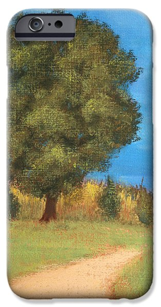 Pathway Pastels iPhone Cases - The Tree iPhone Case by Marna Edwards Flavell