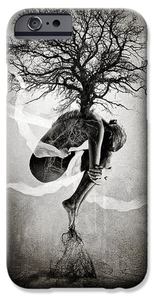 Texture iPhone Cases - The Tree of Life iPhone Case by Erik Brede