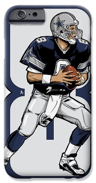 Irvin iPhone Cases - The Triplets Leader Qb 8 iPhone Case by Akyanyme