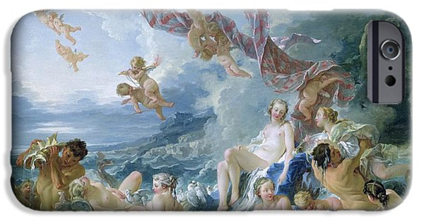 Fertility Paintings iPhone Cases - The Triumph of Venus iPhone Case by Francois Boucher