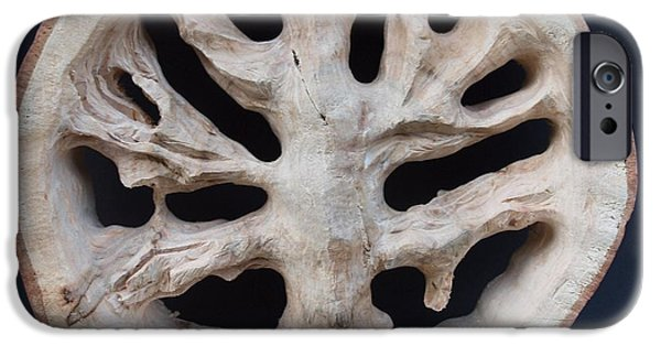 Tree Art Print Sculptures iPhone Cases - The Trunk Of Time iPhone Case by Robert Margetts