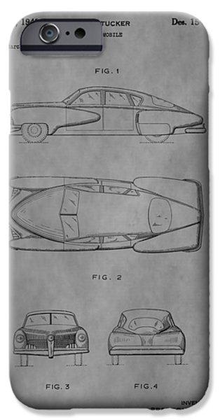 Mechanics Drawings iPhone Cases - The Tucker Sedan iPhone Case by Dan Sproul
