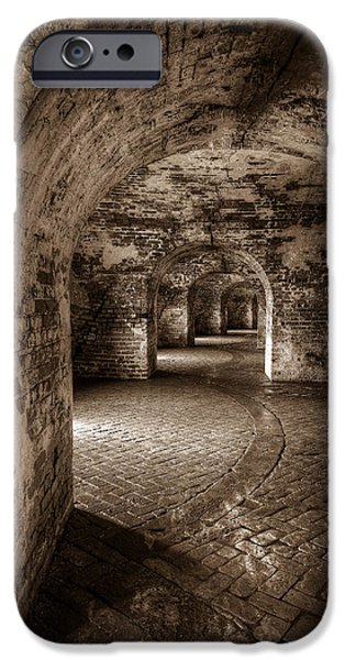 Louisiana Photographs iPhone Cases - The Tunnels of Fort Pike iPhone Case by Tim Stanley