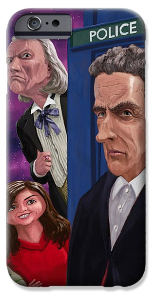 Dr Who iPhone Cases - The Twelfth Doctor Who iPhone Case by Martin Davey