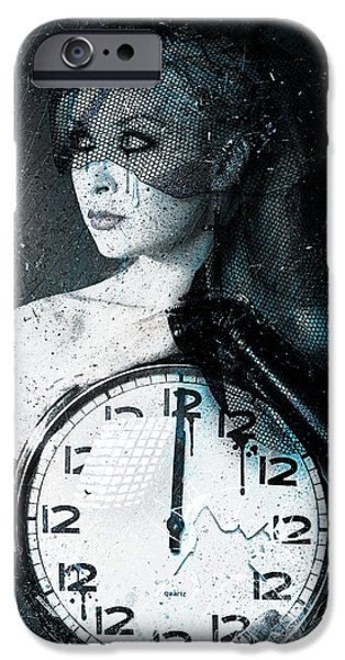 Torn Digital Art iPhone Cases - The Twelfth Hour iPhone Case by Gary Bodnar