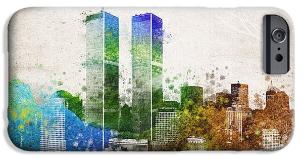 Downtown Mixed Media iPhone Cases - The Twins iPhone Case by Aged Pixel