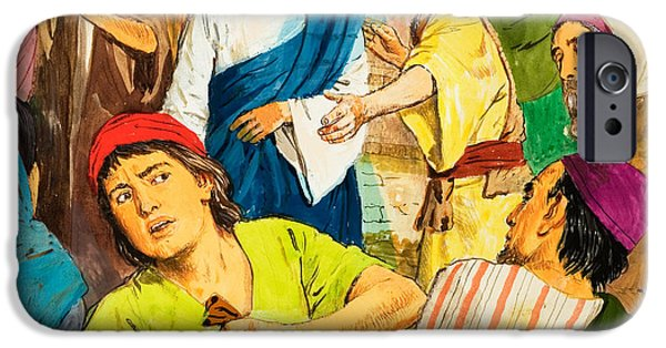 Jesus iPhone Cases - The Two Brothers iPhone Case by Clive Uptton