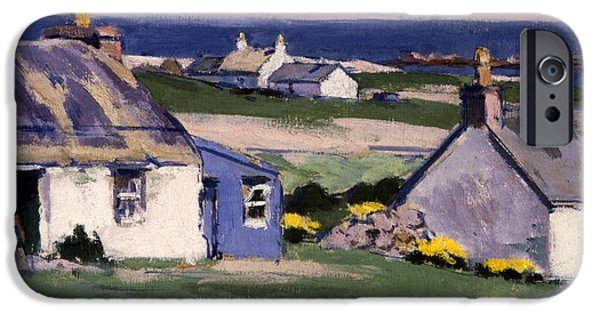 Hut iPhone Cases - The Two Crofts iPhone Case by Francis Campbell Boileau Cadell