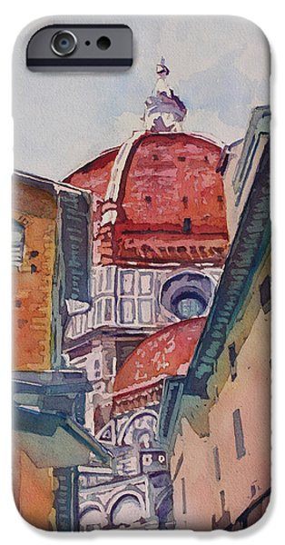 Alley Paintings iPhone Cases - The Ultimate Alley View iPhone Case by Jenny Armitage