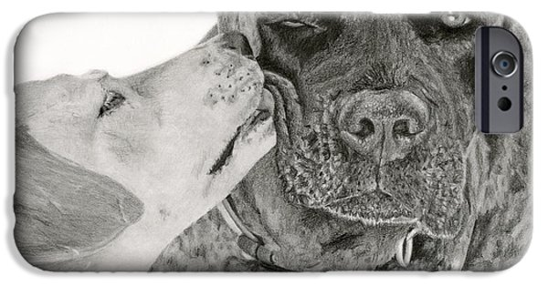 Black Dog iPhone Cases - The Unconditional Love Of Dogs iPhone Case by Sarah Batalka